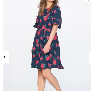 Draper James Eloquii floral fit & flare dress, 14